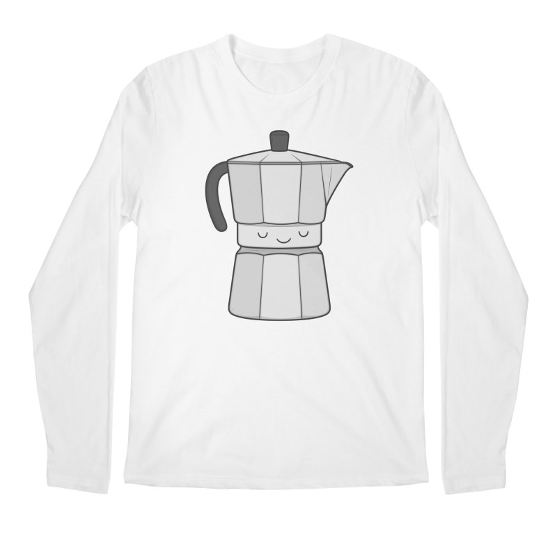 Coffee Men's Longsleeve T-Shirt by Kim Vervuurt