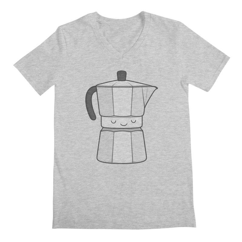 Coffee Men's V-Neck by Kim Vervuurt