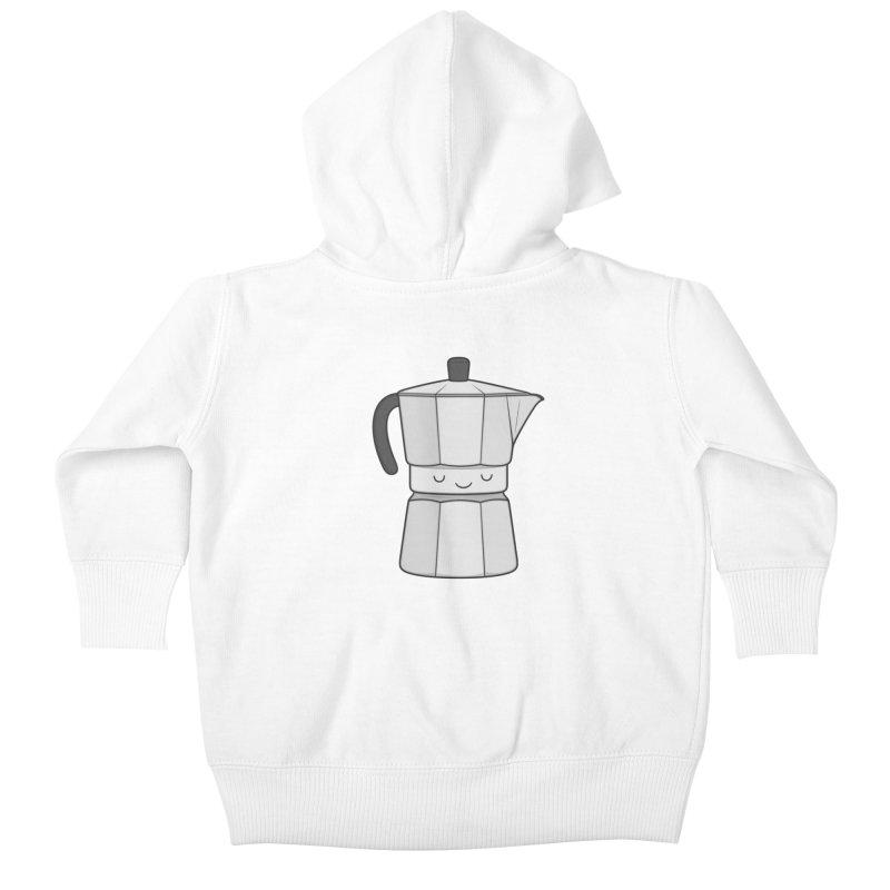 Coffee Kids Baby Zip-Up Hoody by Kim Vervuurt