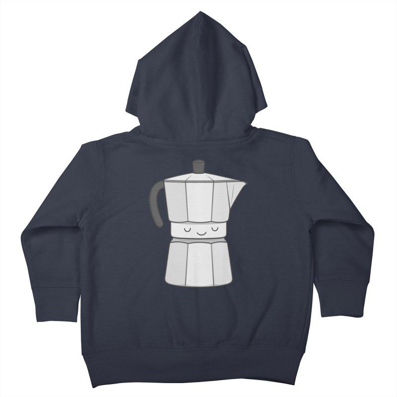 Coffee Kids Toddler Zip-Up Hoody by Kim Vervuurt