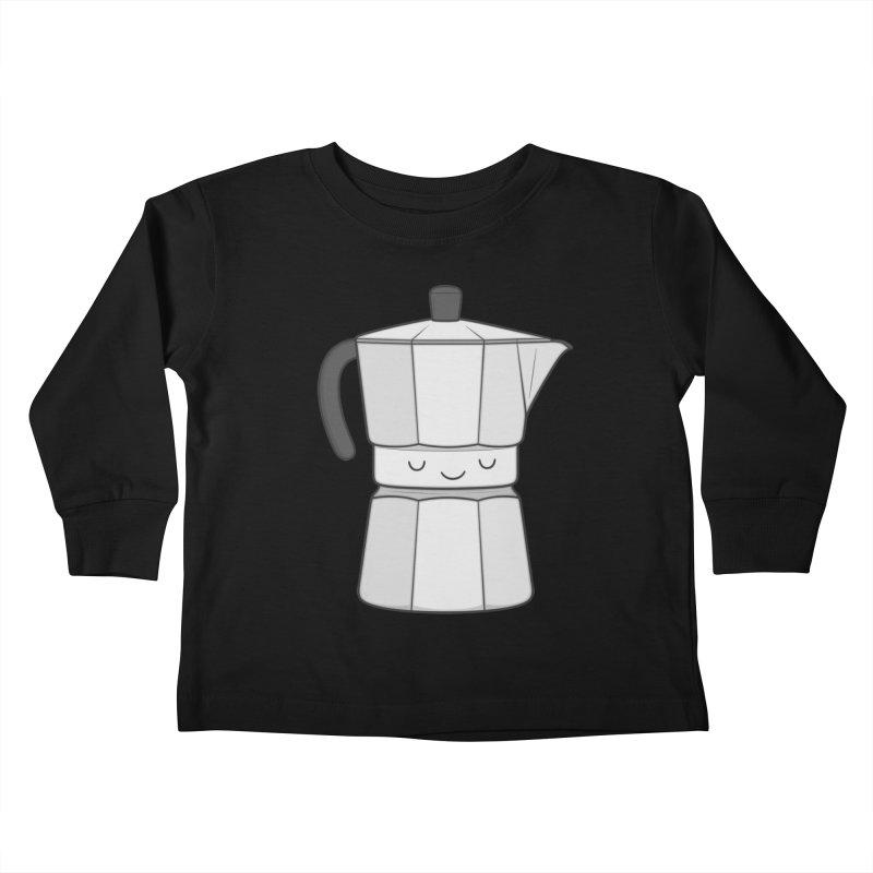 Coffee Kids Toddler Longsleeve T-Shirt by Kim Vervuurt