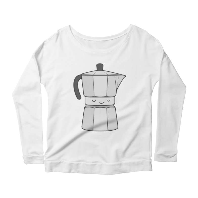 Coffee Women's Longsleeve Scoopneck  by Kim Vervuurt