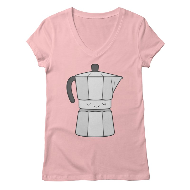 Coffee Women's V-Neck by Kim Vervuurt