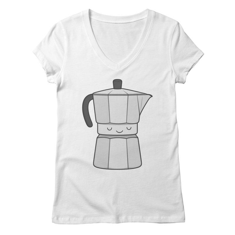 Coffee Women's V-Neck by Kim Vervuurt
