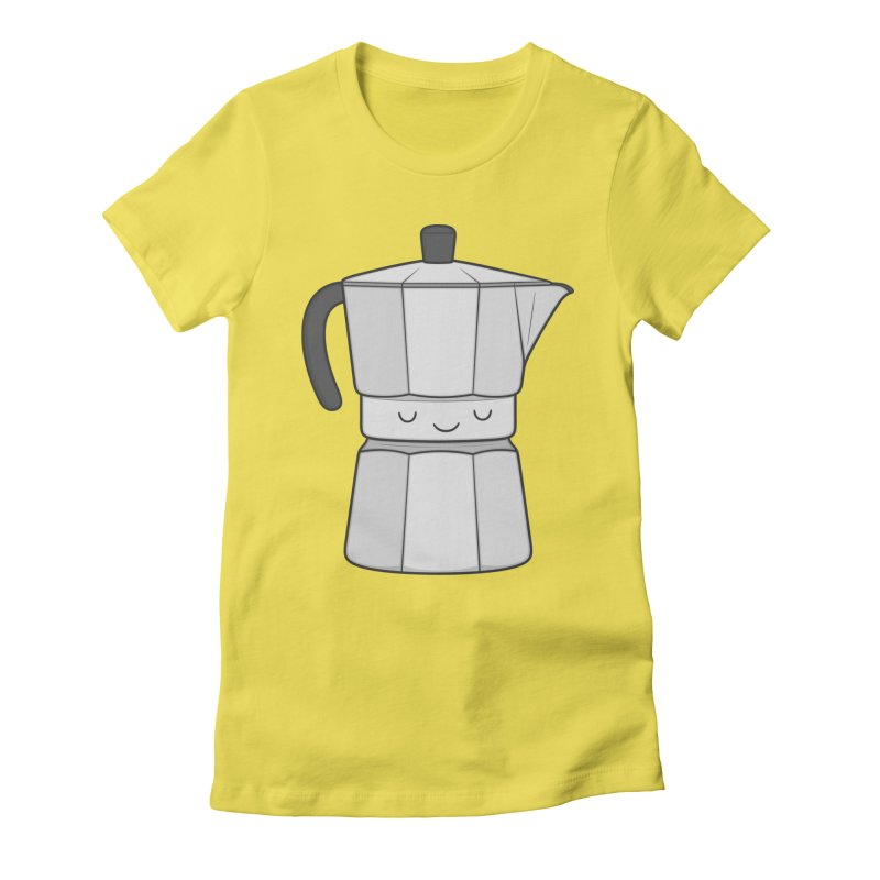 Coffee Women's Fitted T-Shirt by Kim Vervuurt