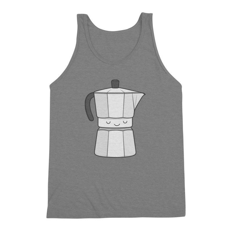 Coffee Men's Triblend Tank by Kim Vervuurt