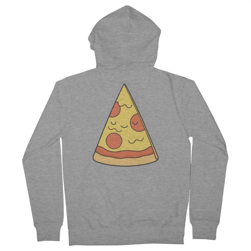 Pizza Men's Zip-Up Hoody by Kim Vervuurt