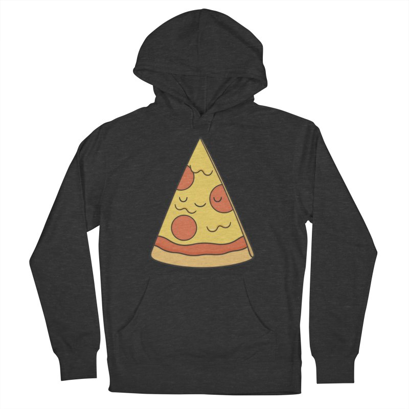 Pizza Men's French Terry Pullover Hoody by Kim Vervuurt