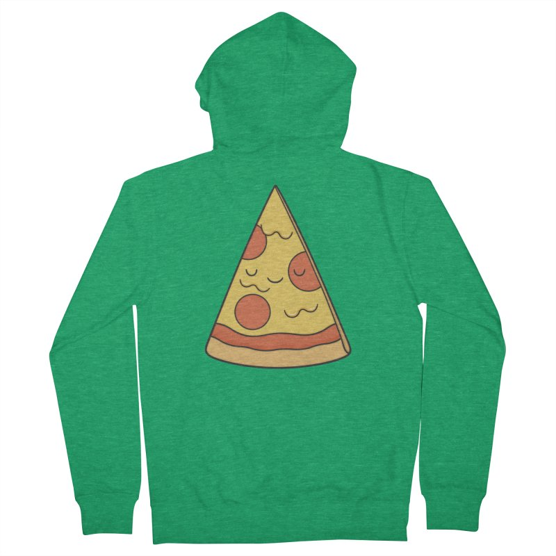 Pizza Women's Zip-Up Hoody by Kim Vervuurt