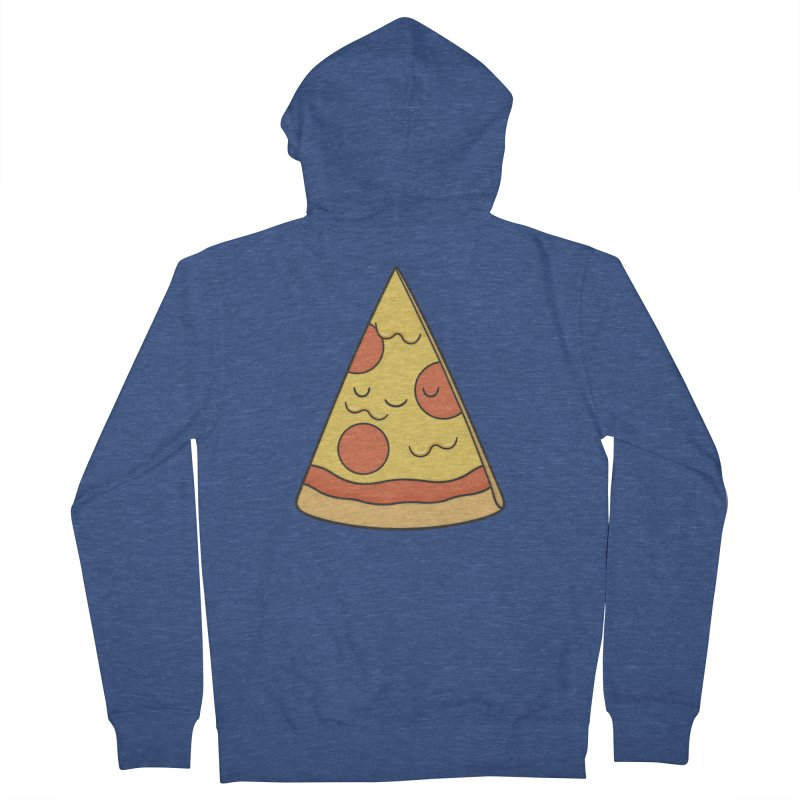 Pizza Men's French Terry Zip-Up Hoody by Kim Vervuurt