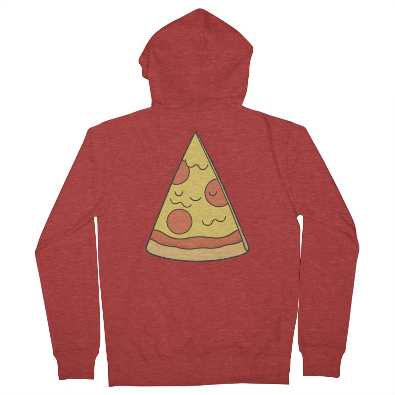 Pizza Men's Zip-Up Hoody by Kim Vervuurt