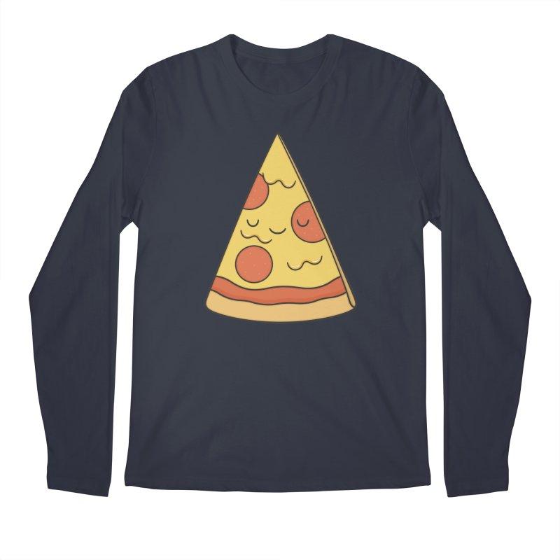 Pizza Men's Longsleeve T-Shirt by Kim Vervuurt