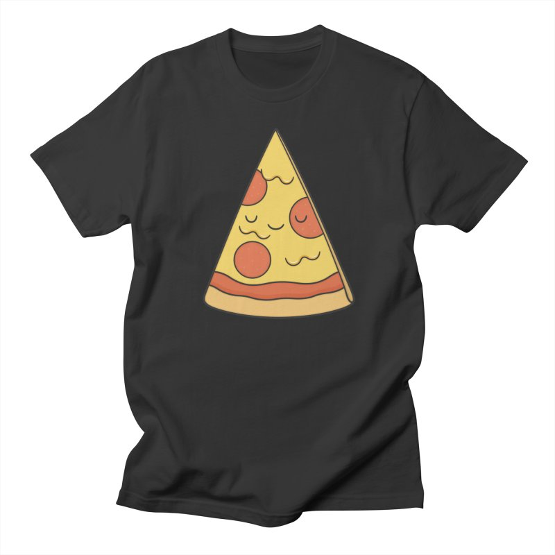 Pizza Men's Regular T-Shirt by Kim Vervuurt
