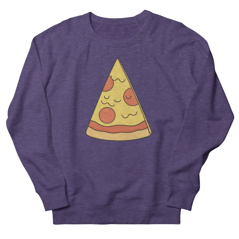 Pizza Women's French Terry Sweatshirt by Kim Vervuurt