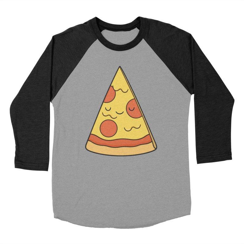 Pizza Women's Baseball Triblend T-Shirt by Kim Vervuurt