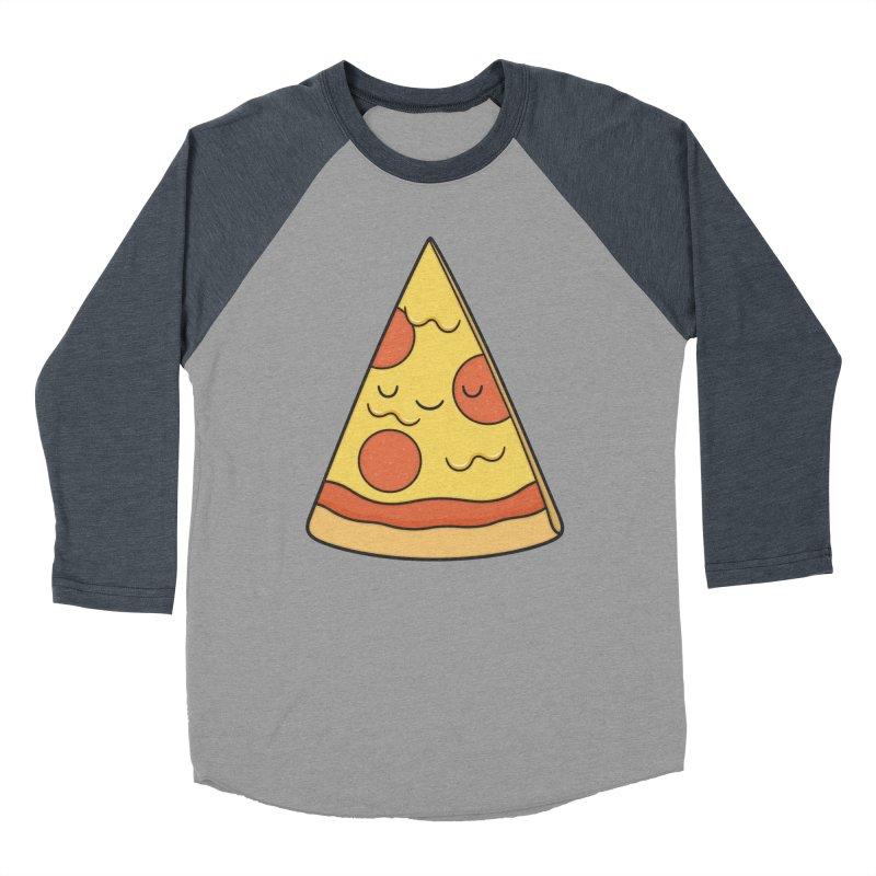 Pizza Women's Baseball Triblend Longsleeve T-Shirt by Kim Vervuurt