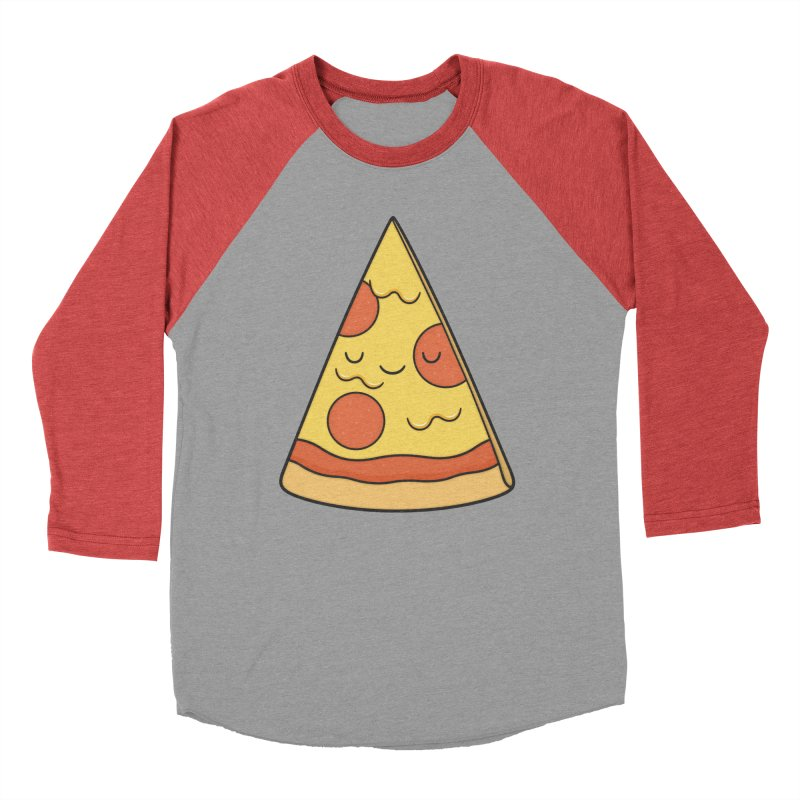 Pizza Men's Baseball Triblend T-Shirt by Kim Vervuurt