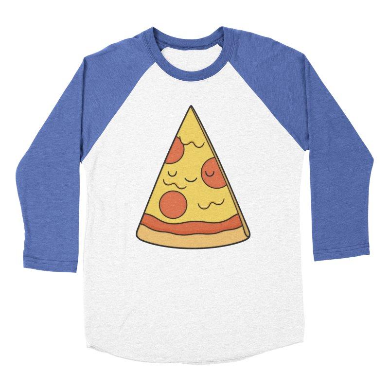 Pizza Men's Baseball Triblend T-Shirt by Kim Vervuurt