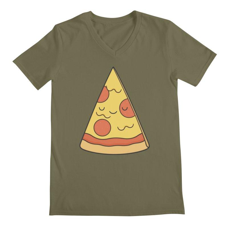Pizza Men's V-Neck by Kim Vervuurt