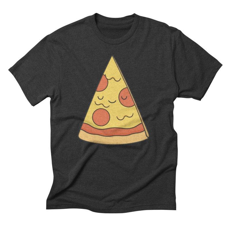 Pizza Men's Triblend T-shirt by Kim Vervuurt
