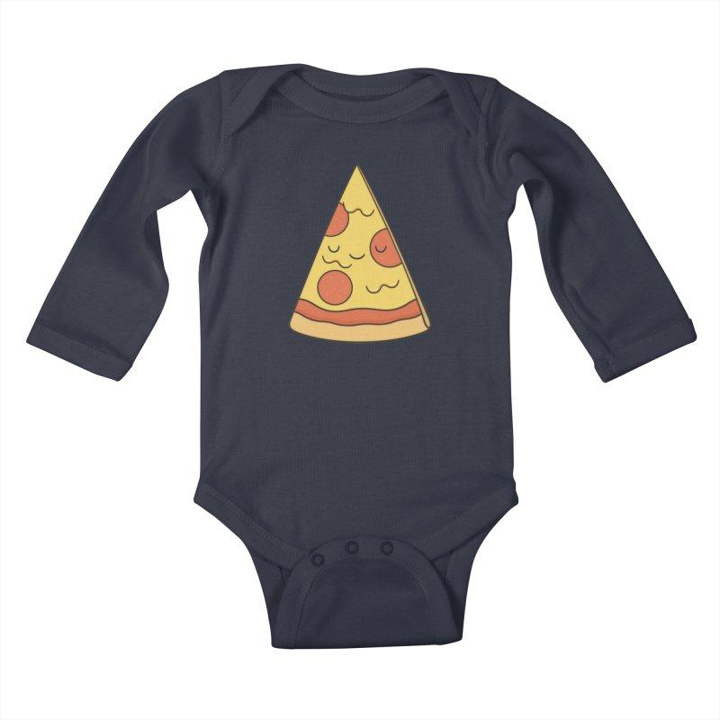 Pizza Kids Baby Longsleeve Bodysuit by Kim Vervuurt