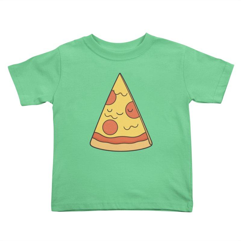 Pizza Kids Toddler T-Shirt by Kim Vervuurt