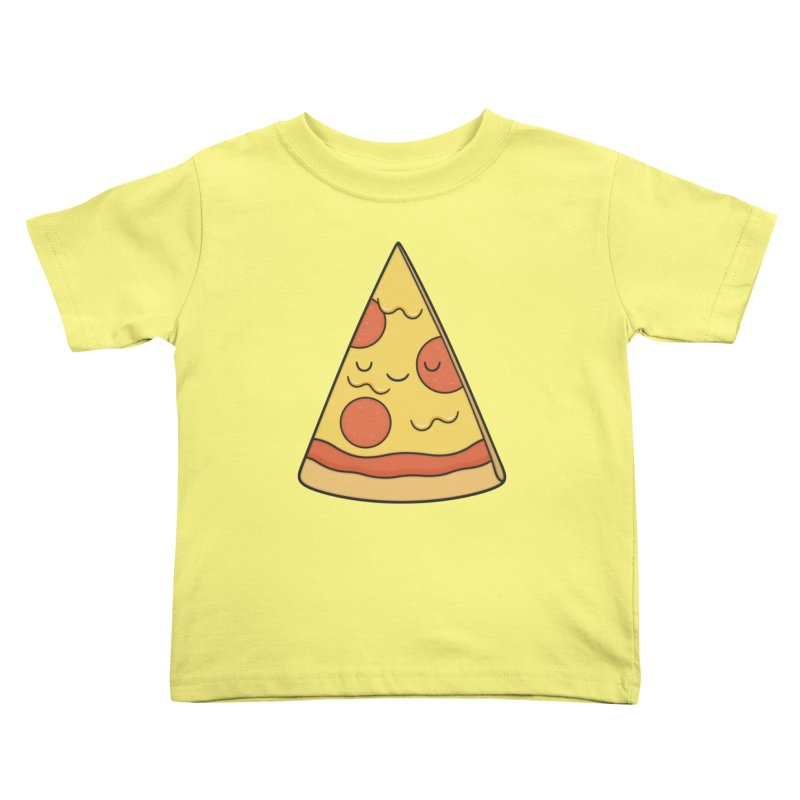 Pizza Kids Toddler T-Shirt by Kim Vervuurt