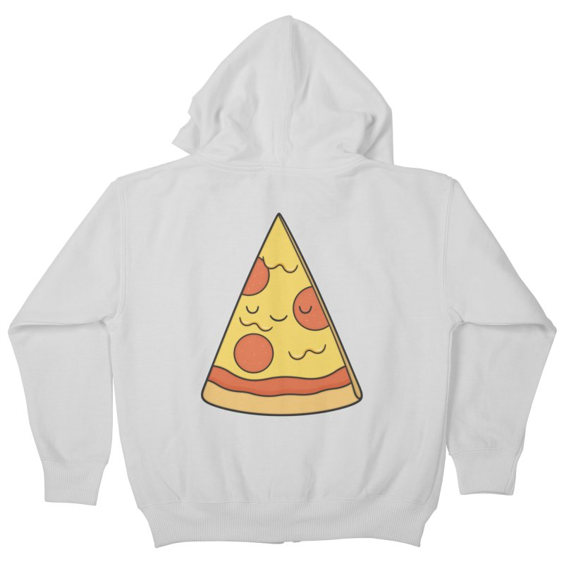Pizza Kids Zip-Up Hoody by Kim Vervuurt