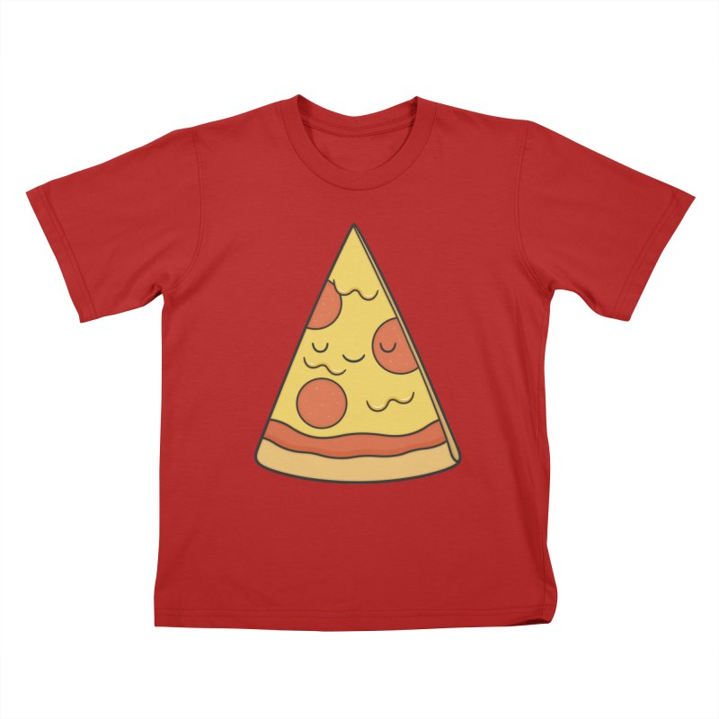 Pizza Kids T-shirt by Kim Vervuurt