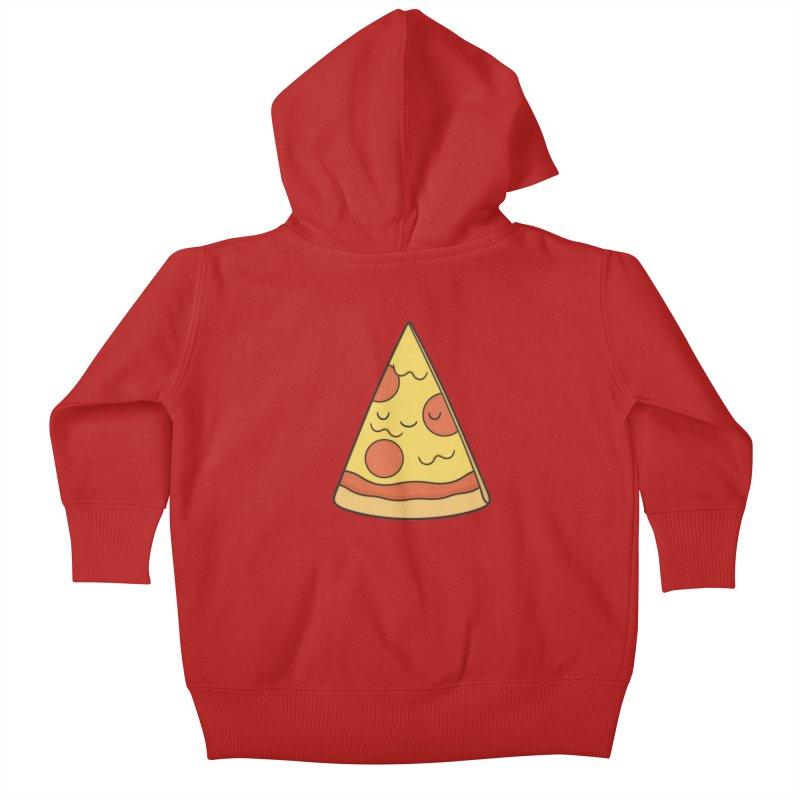 Pizza Kids Baby Zip-Up Hoody by Kim Vervuurt