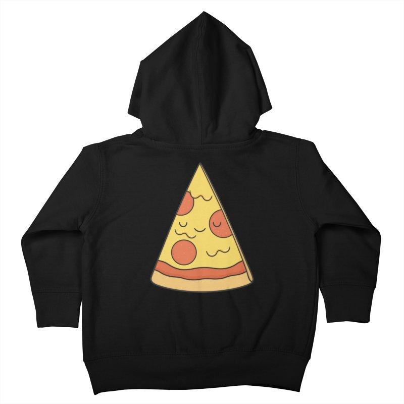 Pizza Kids Toddler Zip-Up Hoody by Kim Vervuurt