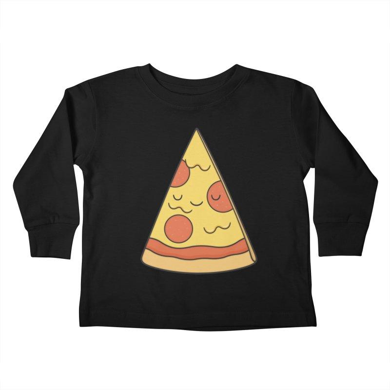 Pizza Kids Toddler Longsleeve T-Shirt by Kim Vervuurt