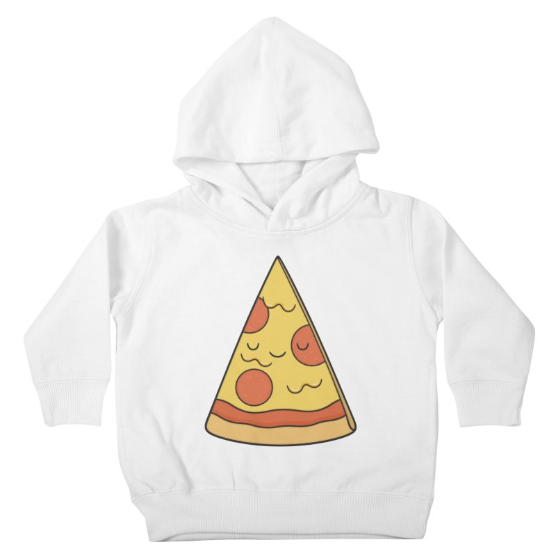 Pizza Kids Toddler Pullover Hoody by Kim Vervuurt