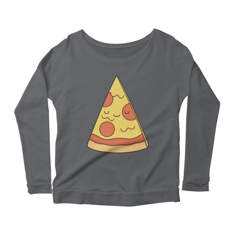 Pizza Women's Longsleeve Scoopneck  by Kim Vervuurt