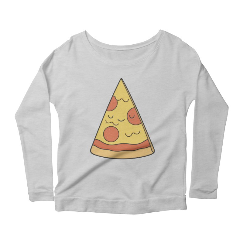 Pizza Women's Longsleeve Scoopneck  by Kim Vervuurt