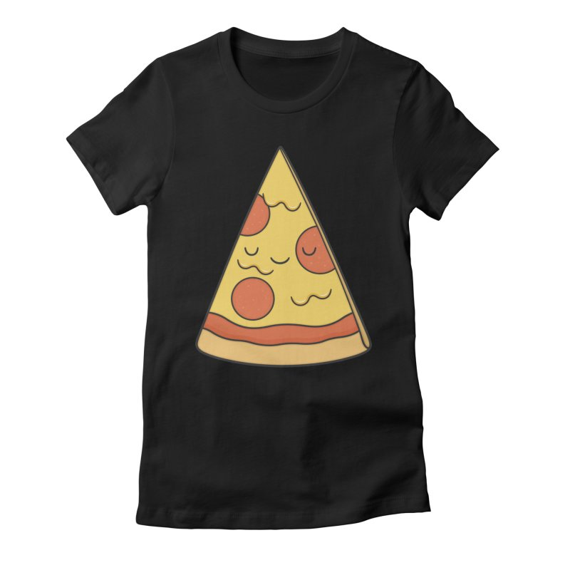 Pizza Women's Fitted T-Shirt by Kim Vervuurt