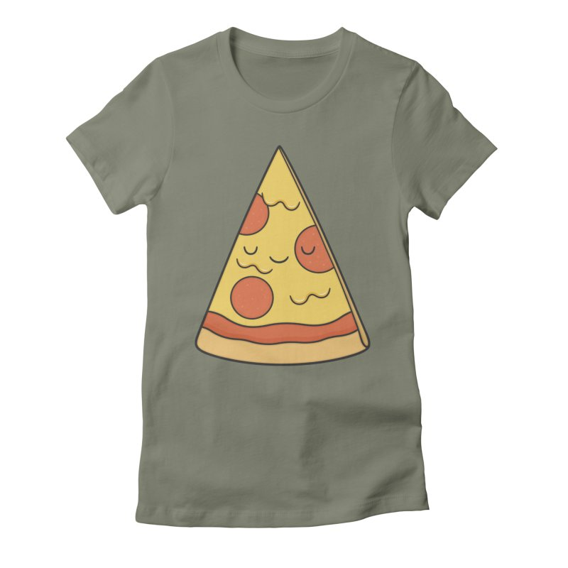 Pizza Women's T-Shirt by Kim Vervuurt