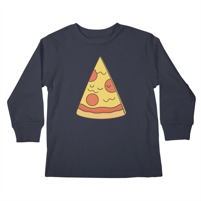 Pizza Kids Longsleeve T-Shirt by Kim Vervuurt