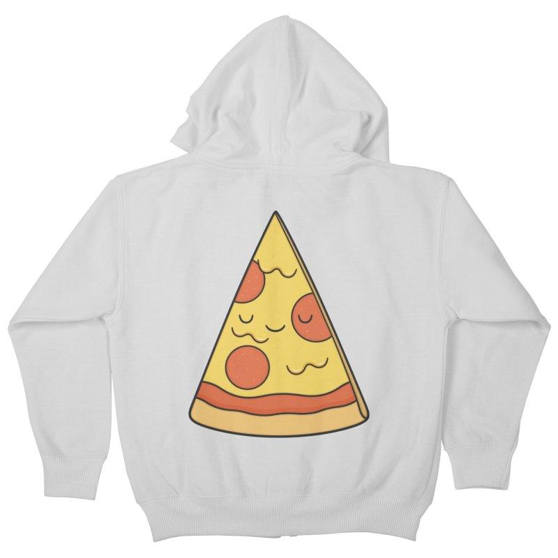Pizza Kids Zip-Up Hoody by Kim Vervuurt