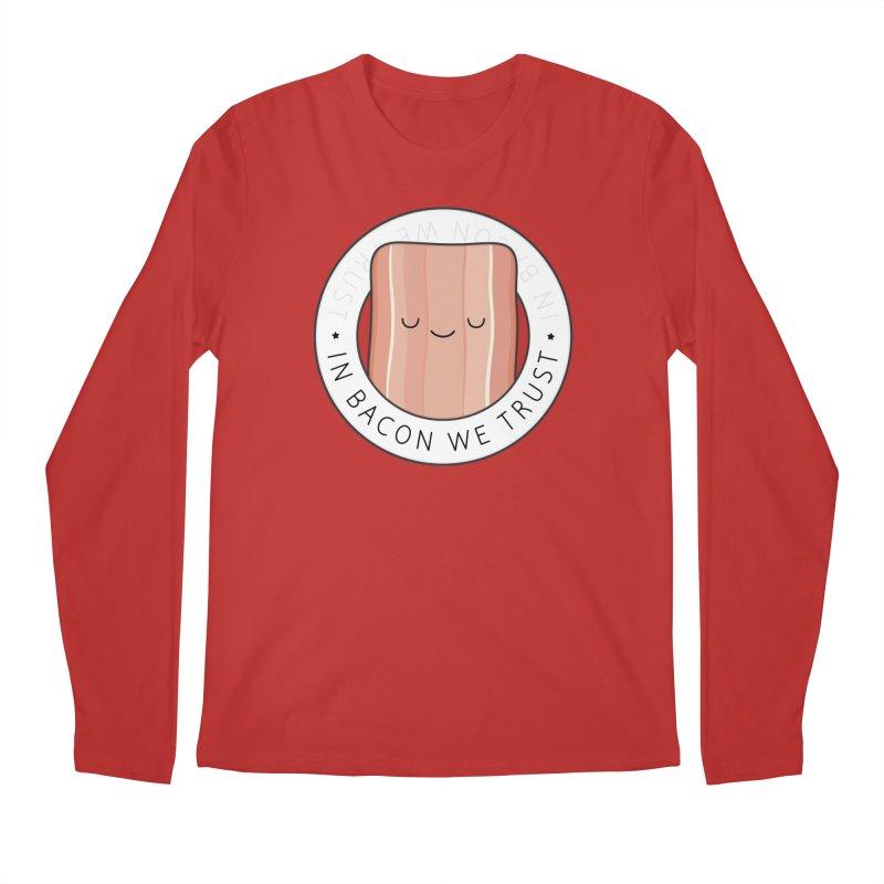 In Bacon We Trust Men's Longsleeve T-Shirt by Kim Vervuurt