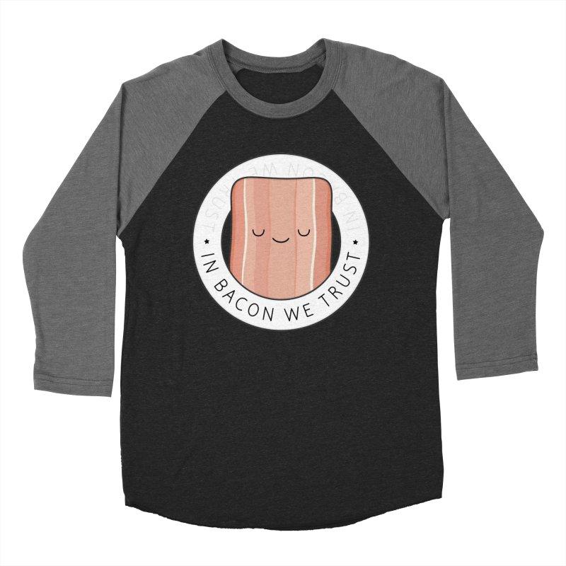 In Bacon We Trust Women's Baseball Triblend T-Shirt by Kim Vervuurt