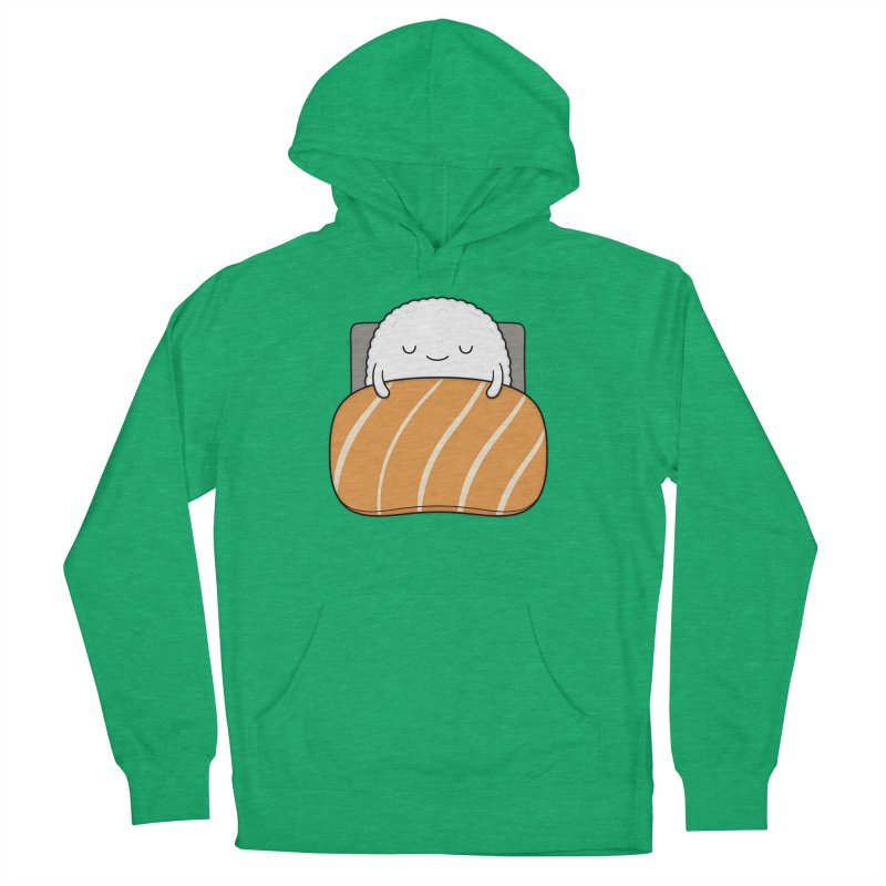 Sleepy Sushi Men's French Terry Pullover Hoody by Kim Vervuurt