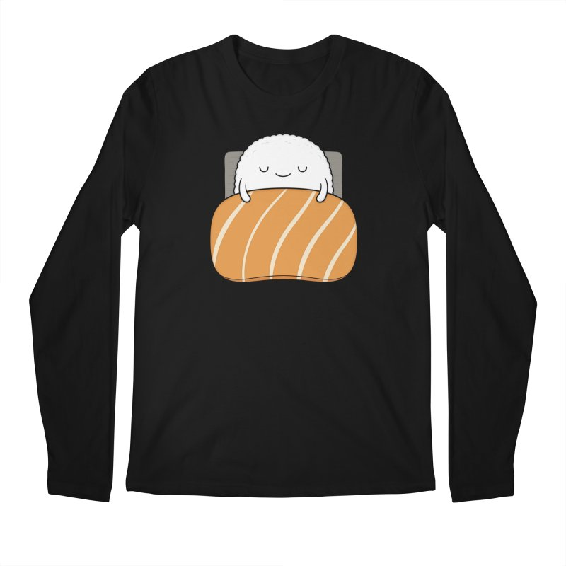 Sleepy Sushi in Men's Longsleeve T-Shirt Black by Kim Vervuurt
