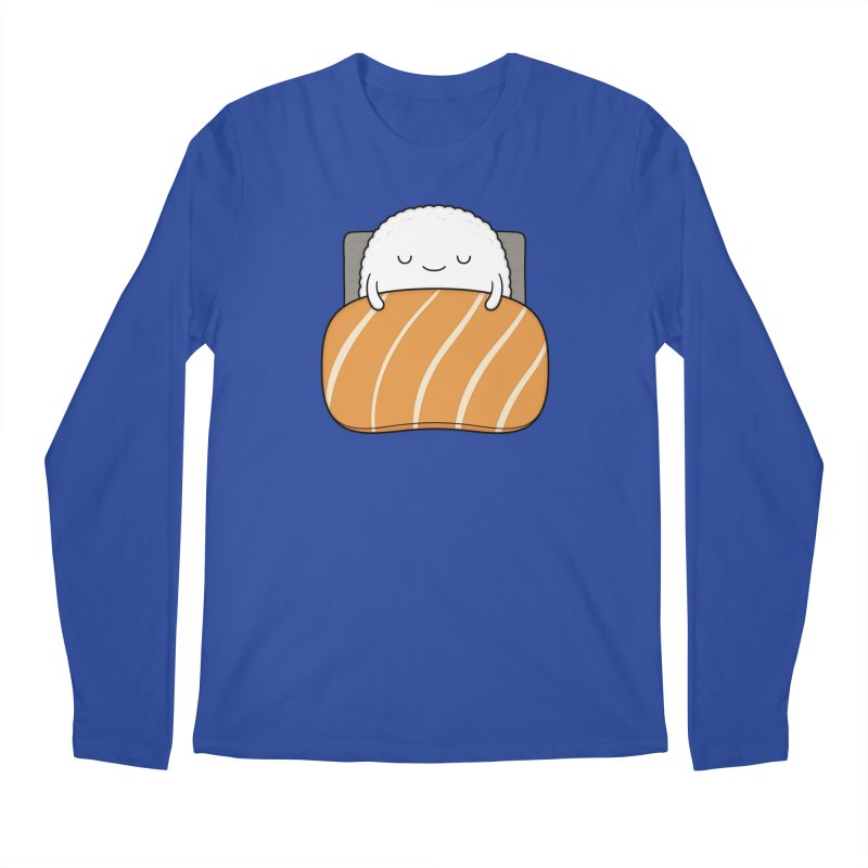 Sleepy Sushi Men's Regular Longsleeve T-Shirt by Kim Vervuurt