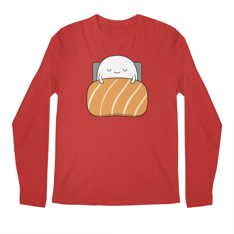 Sleepy Sushi Men's Longsleeve T-Shirt by Kim Vervuurt