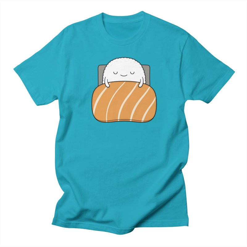 Sleepy Sushi Men's Regular T-Shirt by Kim Vervuurt