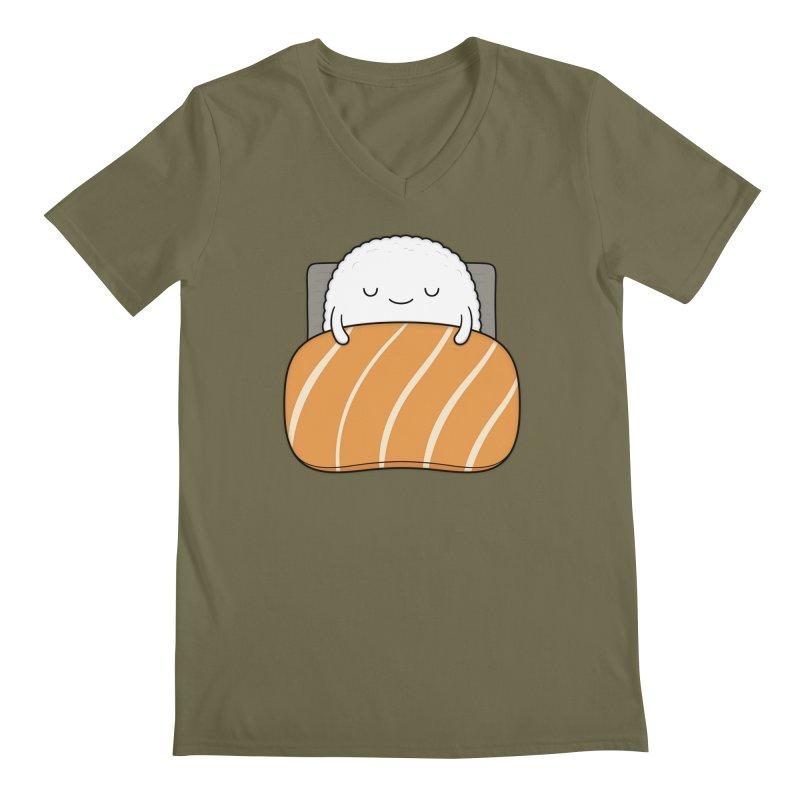 Sleepy Sushi Men's Regular V-Neck by Kim Vervuurt