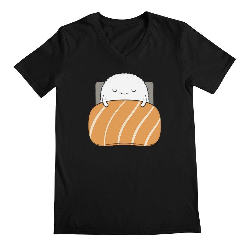 Sleepy Sushi Men's V-Neck by Kim Vervuurt