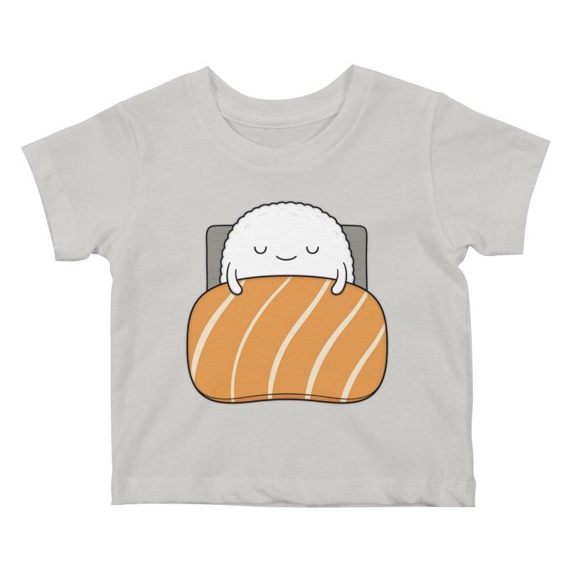 Sleepy Sushi Kids Baby T-Shirt by Kim Vervuurt