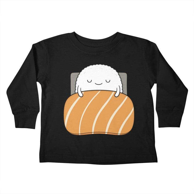 Sleepy Sushi Kids Toddler Longsleeve T-Shirt by Kim Vervuurt